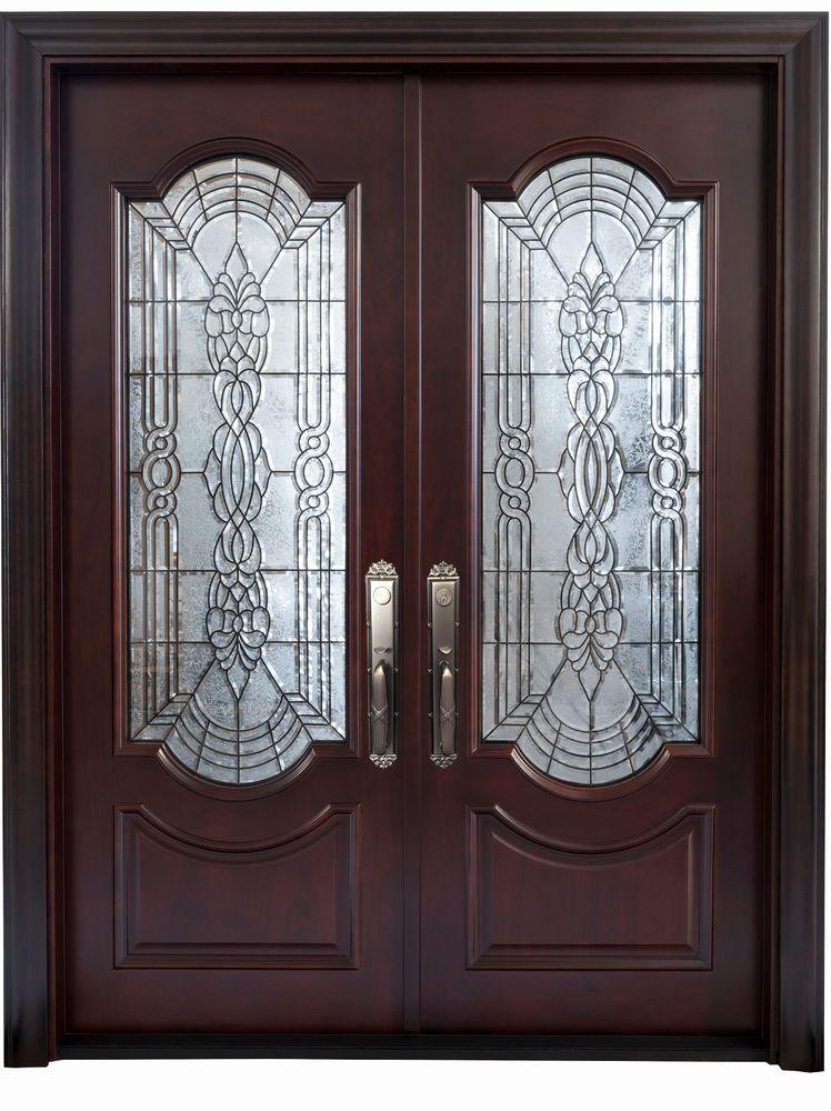 Mahogany Double Front Entry Doors 5 X 6 8 2 3 8 Thick Classic Doors Ebay Double Front Entry Doors Front Entry Doors Entry Doors