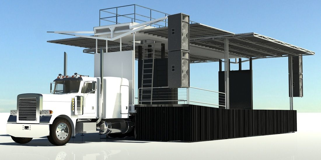 semi truck trailer stage - Google Search   Theater On the Go