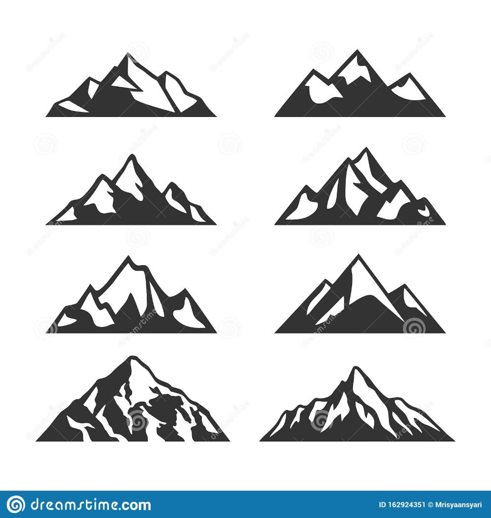 Pin On Mountain Silhouette