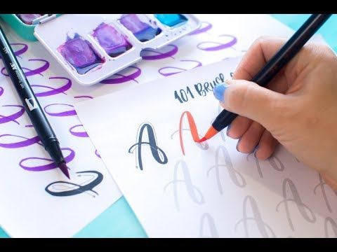 101 worksheets to practice your brush lettering. use tombow or