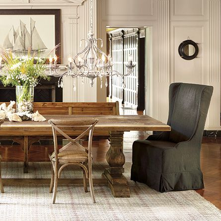 Alice Slipcovered Dining Side Chair In Antwerp Charcoal  Side Custom Charcoal Dining Room Design Inspiration