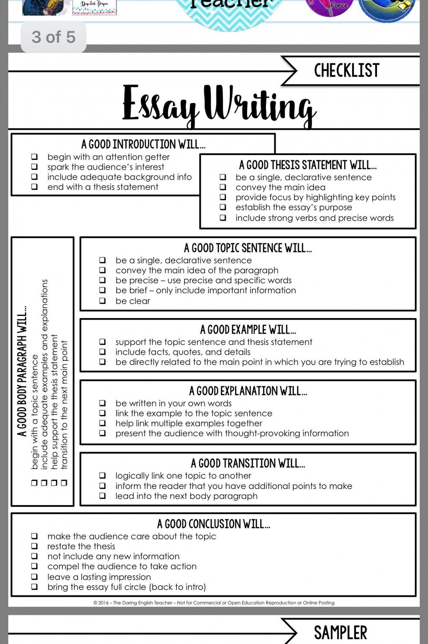 Writing Strong Lead Worksheet 003 Essay Skill Example Good English Lesson Middle School On Skills