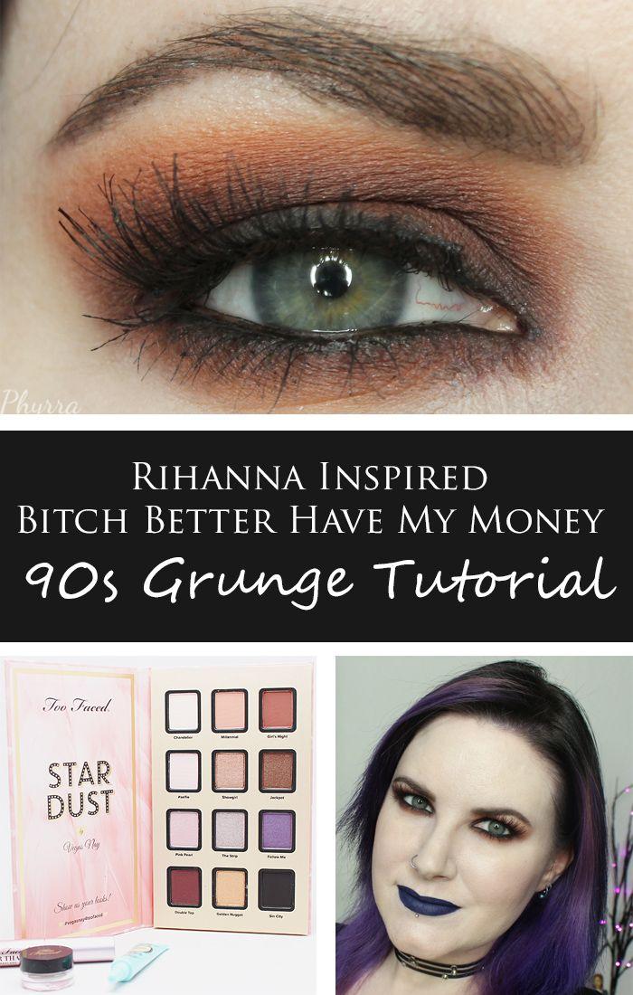 Rihanna Bbhmm 90s Grunge Tutorial Phyrra Cruelty Free Beauty - Grunge-makeup-ideas