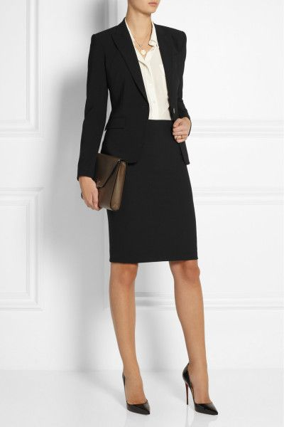 8922c9921e692 Theory Stretch Pencil Skirt in Black - Lyst