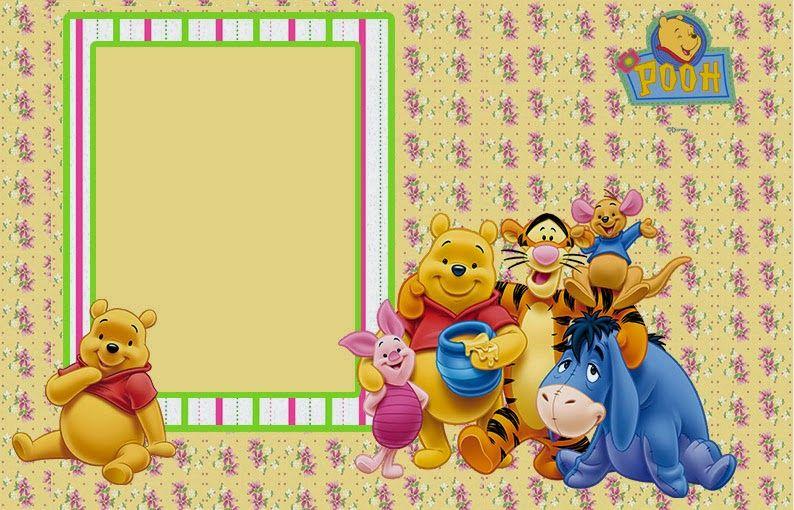 Winnie the Pooh Invitaciones para Imprimir Gratis scrapbooking Winnie the Pooh, Winnie the