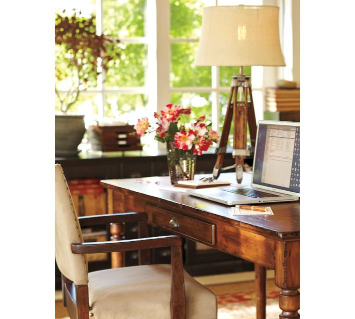 Printer 39 s writing desk pottery barn executive rental for Pottery barn printer s desk reviews