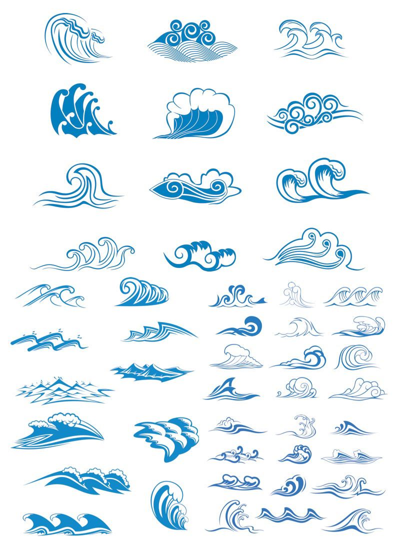 Sea Wave Logos Vector Free Stock Art Illustrations Eps Years Ago Ai How To Edit This For Commercial Use With Svg Cdr Psd
