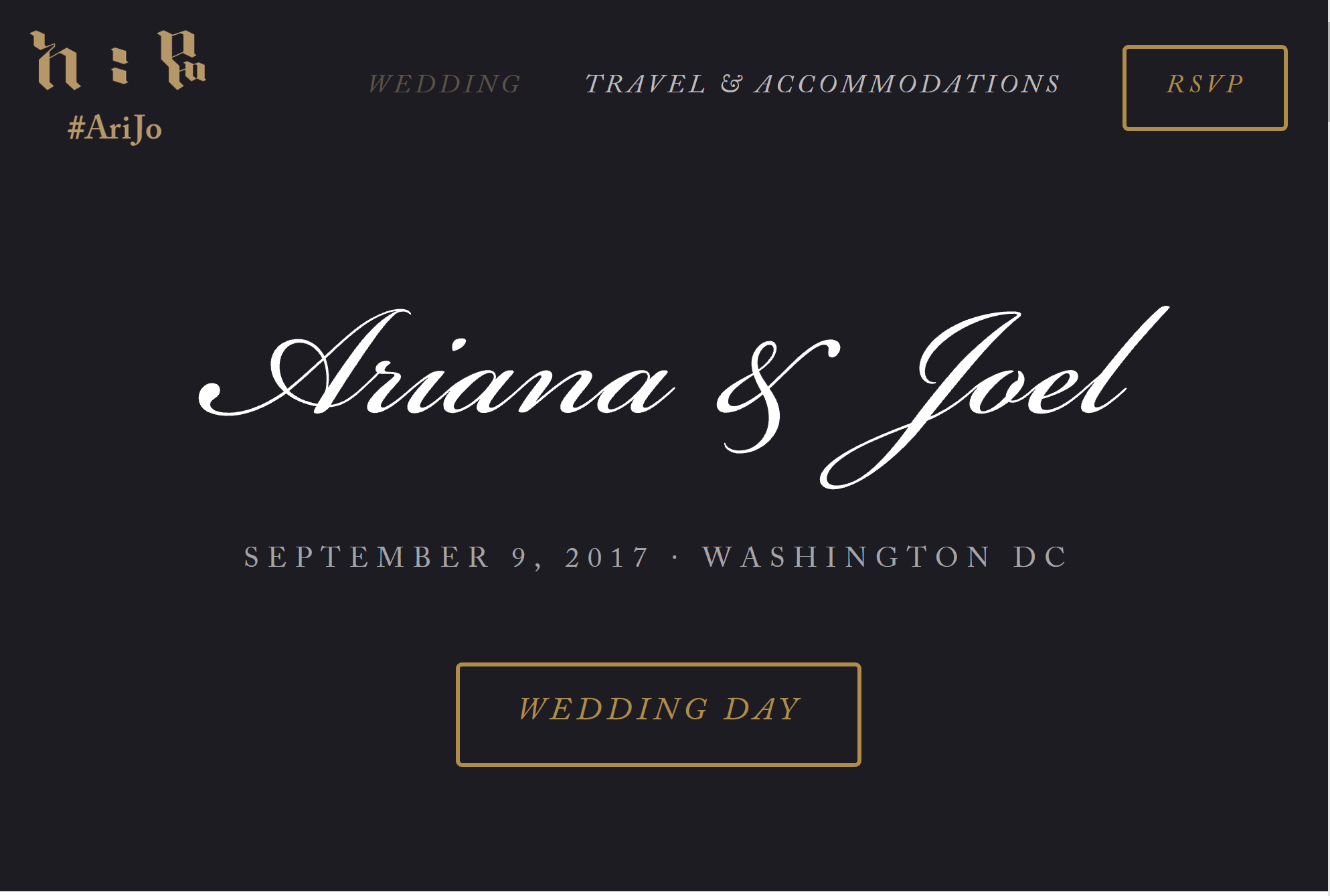 personal wedding website ethiopian american wedding mercys