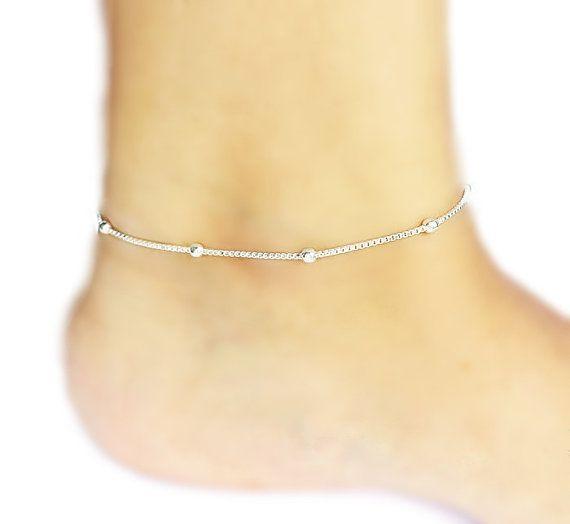 Ankle Bracelet North Star Sterling Silver Anklet Summer Anklet Foot Jewelry Dainty Anklet,Minimalist Anklet Chain Anklet Women Anklet