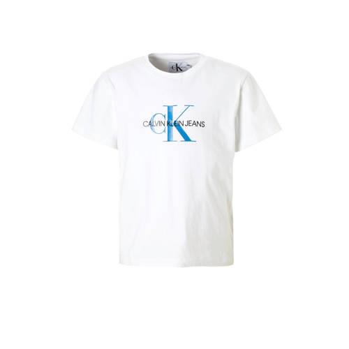 Calvin Klein Jeans T Shirt Met Logo Wit Jongenskleding T Shirts Kleren Maken