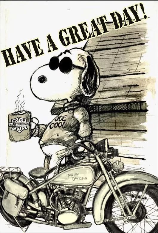 Photo of SNOOPY Have a great day Harley Davidson Bike, #City #NorthAmerica #NorthAmericaCities #NorthA…