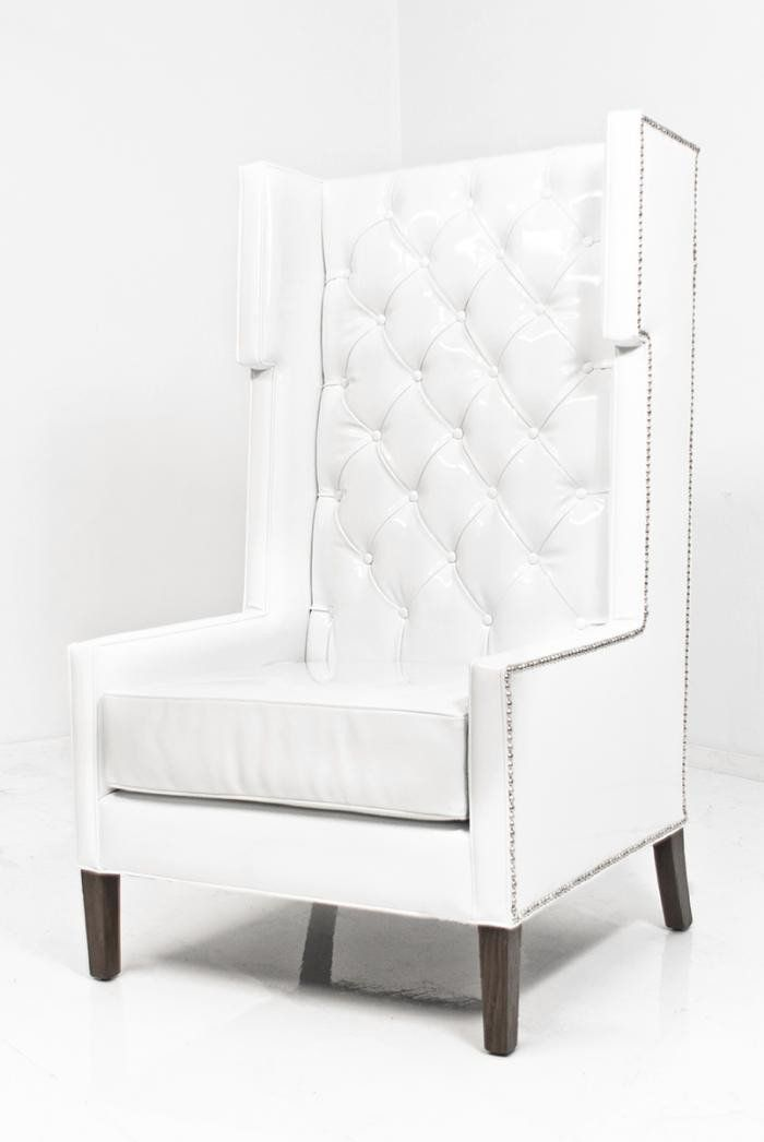 Tangier Wing Chair In Splash White Faux Leather In 2020 Affordable Leather Chair Leather Dining Room Chairs Wing Chair
