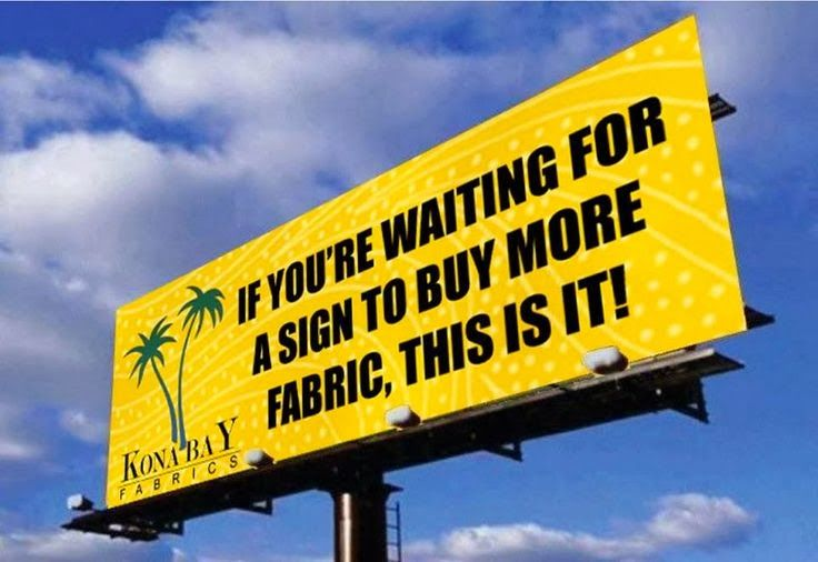 If you're waiting for a sign to buy more fabric, this is it!!