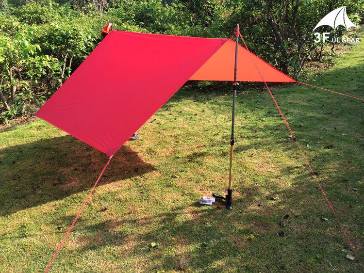 [Visit to Buy] UL Gear Ultralight Tarp Lightweight MINI Sun Shelter Awning C&ing Mat Tent Footprint Nylon Silicone & 3F UL Gear Ultralight Tarp Lightweight MINI Sun Shelter Camping ...