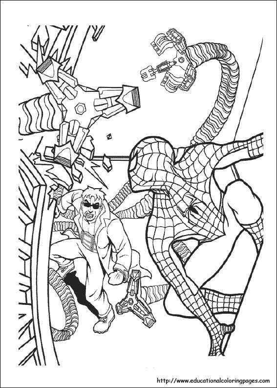 Pin On 7 Spiderman Coloring Pages
