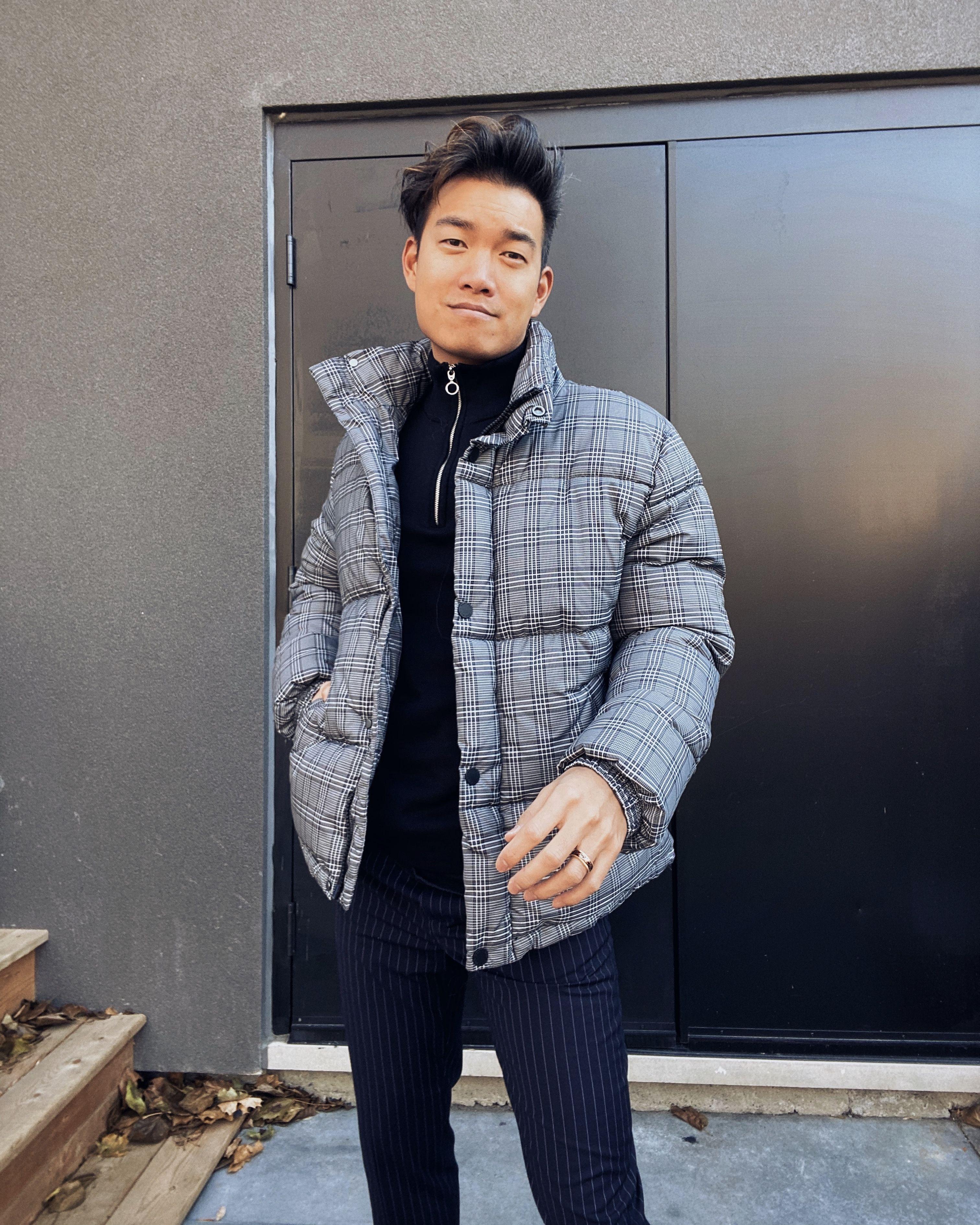 H&M Men's puffer jacket Mens fashion inspiration, Mens