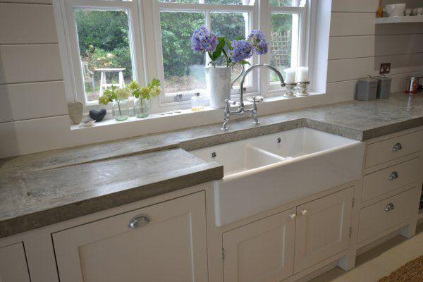 Arbeitsplatte mit Betonoptik - Küchenarbeitsplatten aus Beton ...