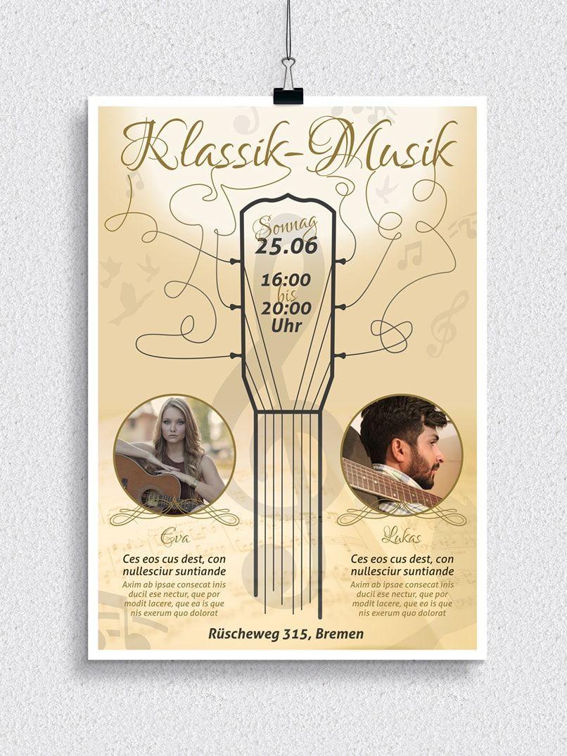 Plakat Veranstaltung Vorlage