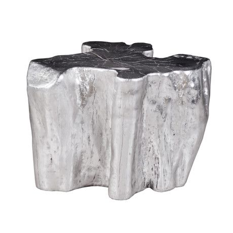Superbe Silver Tree Stump Side Table Modern Coffee Tables And Accent