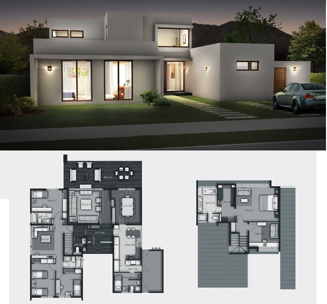 Dise o de casas construccion de casas materiales for Diseno de casa de 300 metros cuadrados