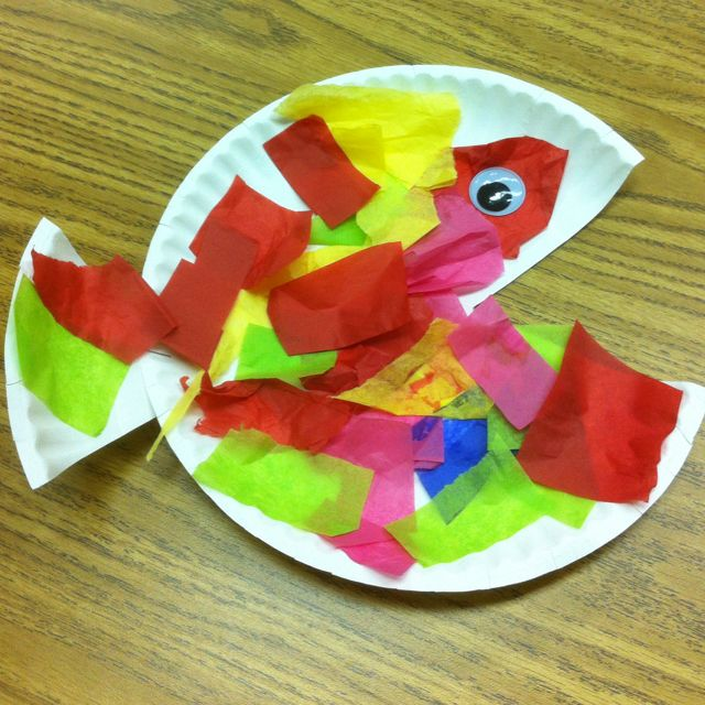 Preschool creation crafts creation day 5 christian for Fish crafts for preschoolers
