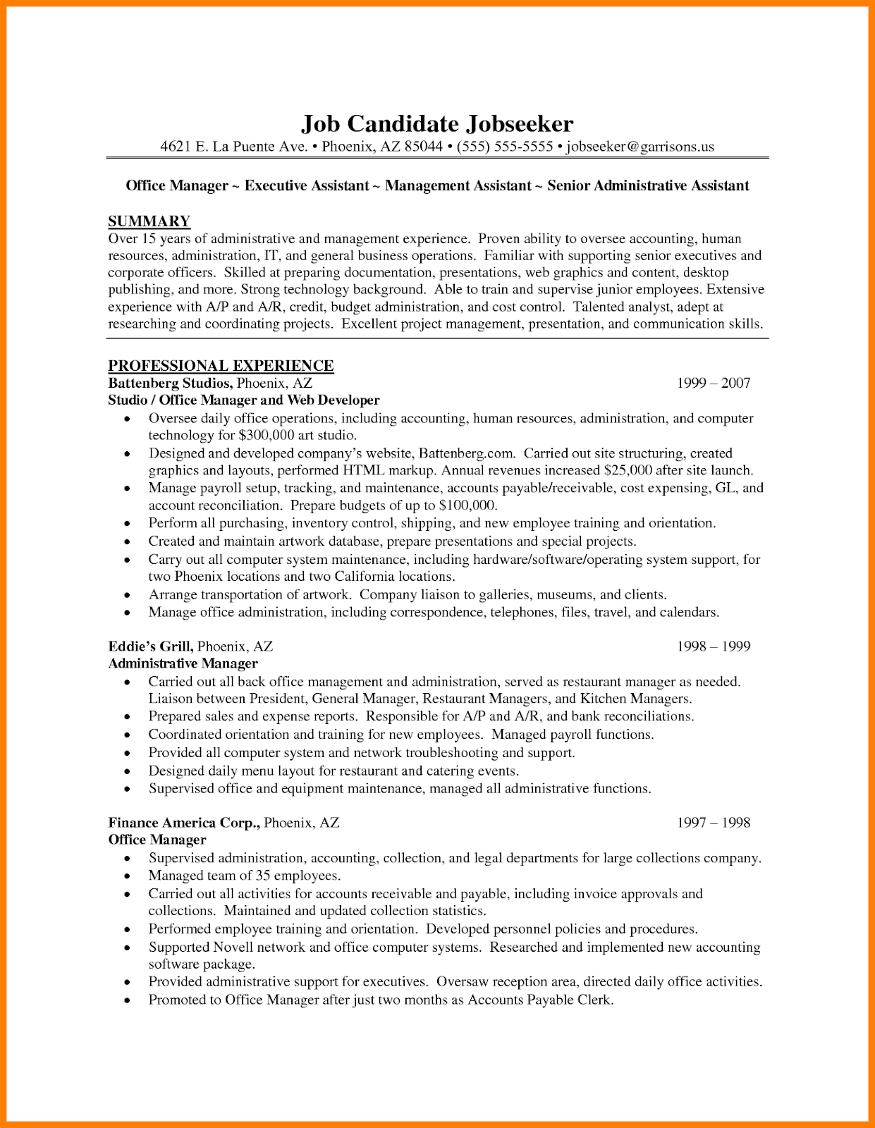 Administrative Assistant Resume Summary, administrative