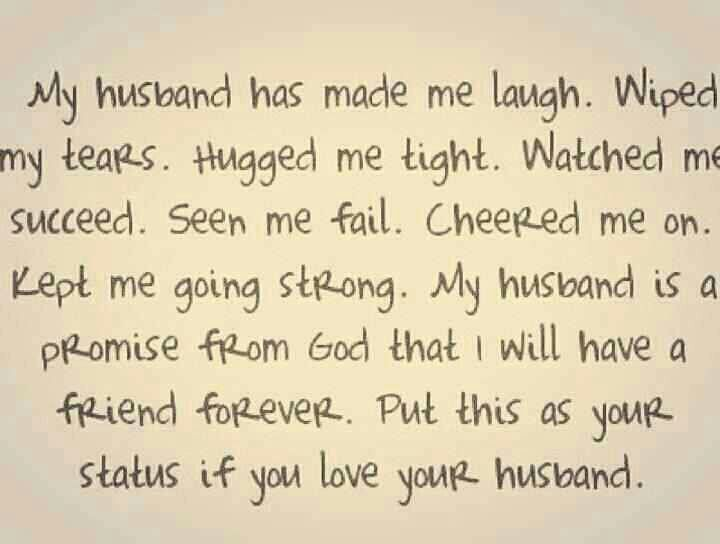 thank you to your husband