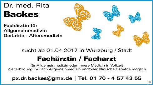 Stellenbezeichnung: Fachärztin / Facharzt für Allgemeinmedizin oder Innere Medizin in Vollzeit gesucht  Arbeitsort: 97074 Würzburg Bayern, Deutschland  Weitere Informationen unter: http://stellencompass.de/anzeige/?id=139467