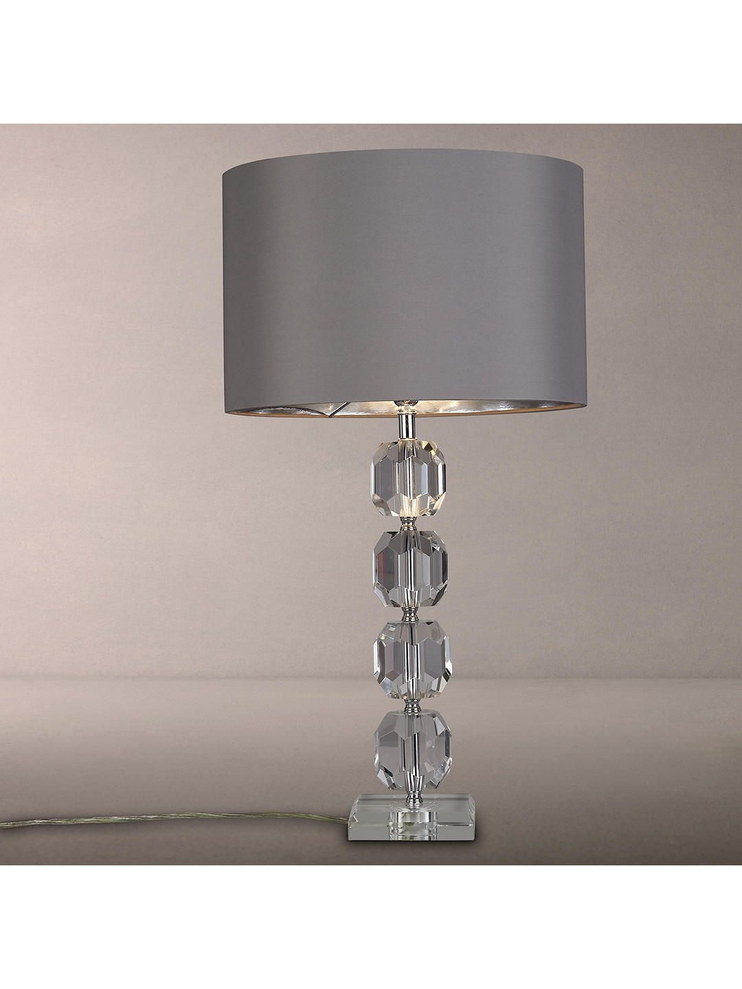 Glass Lamp John Lewis John Lewis Zermatt Crystal Base With Cassie Shade Table Lamp Clear