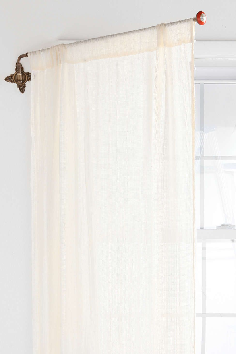 Brass Crisscross Swing Curtain Rod Curtain Rods Curtains Modern Curtains