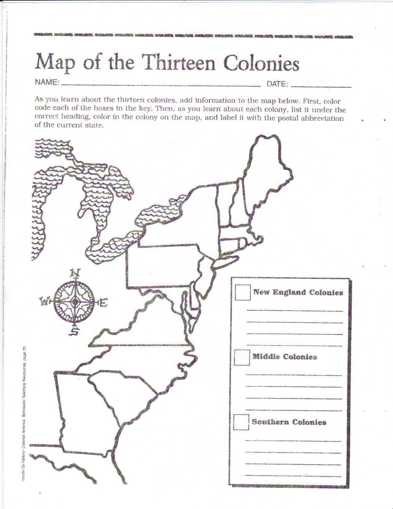 small resolution of 13 Colonies Worksheet Pdf Blank Map Of the 13 original Colonies Google  Search   Social studies worksheets