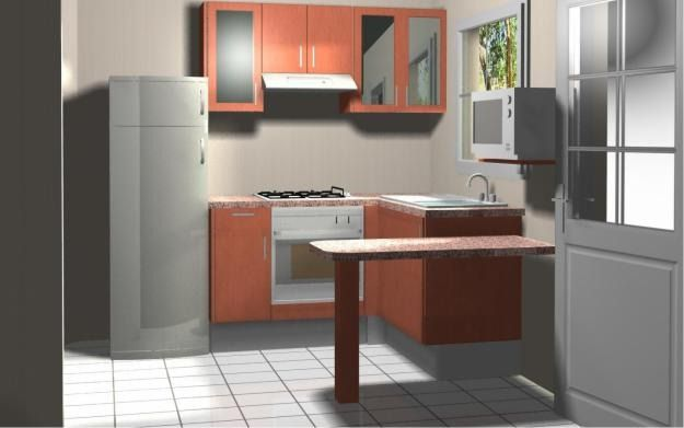 Dise os de cocinas peque as minimalista dise o de la Diseno de cocina integral casa pequena