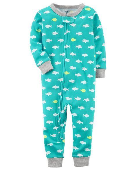 4870db784c12 1-Piece Neon Snug Fit Cotton Footless PJs