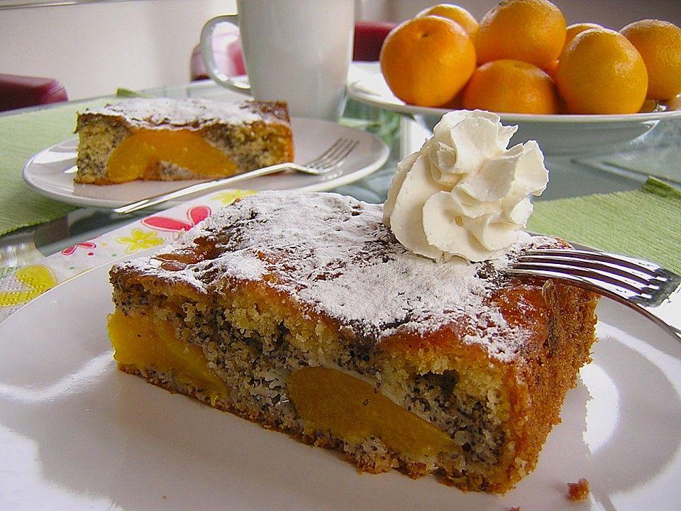 Pfirsich - Mohn Blechkuchen 1