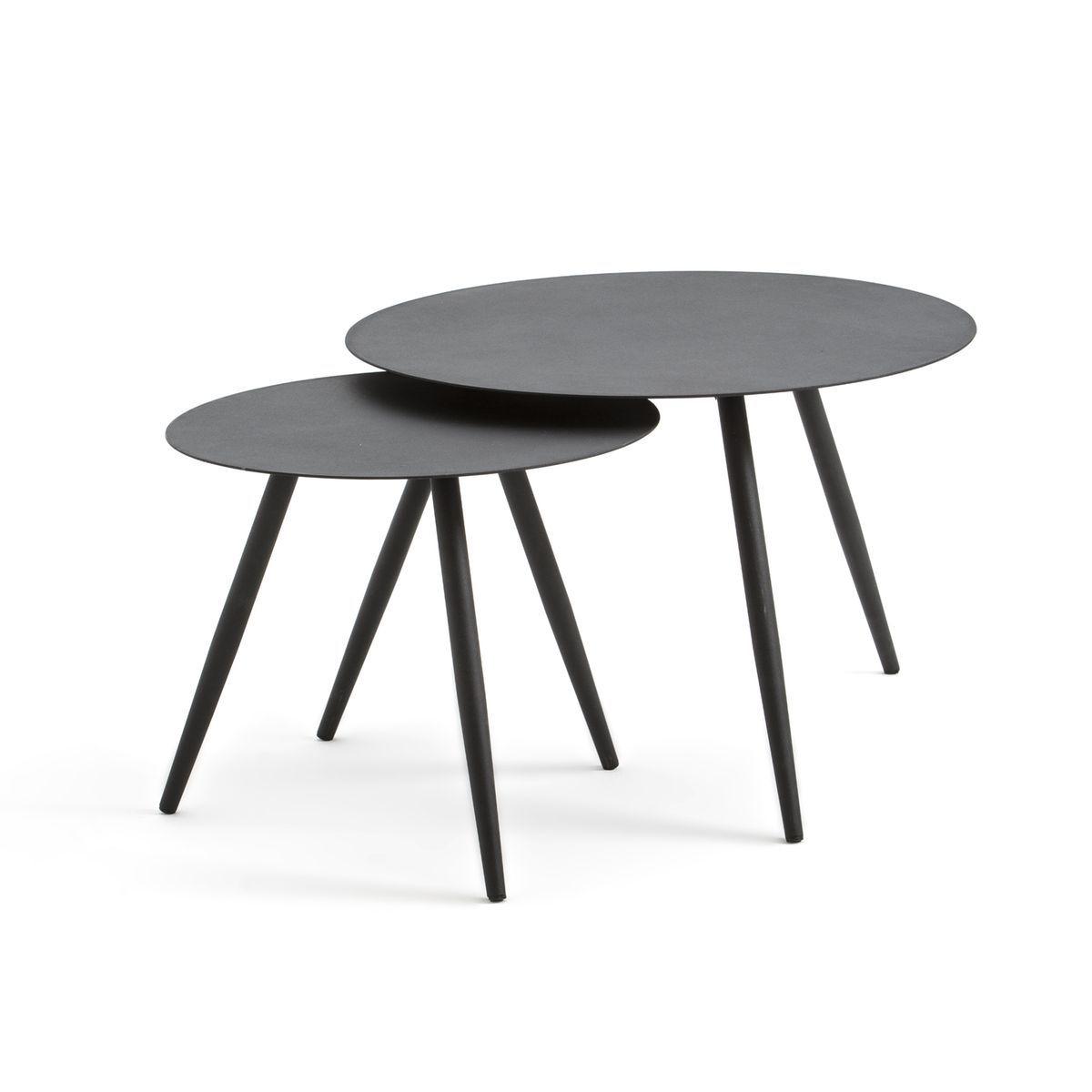 2 Tables Basses De Jardin Ibiza Metal Table Basse Table Basse