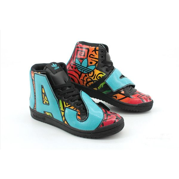 separation shoes 9ca7f 6adc0 JEREMY SCOTT x ADIDAS ORIGINALS LETTERS (MULTI) Sneaker Freaker featuring  and polyvore,