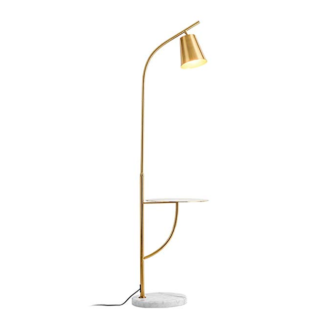 Hsyile Lighting Ku300214 Creative Bedroom Living Room Floor Lamp With A Table Office And Reading Light E With Images Floor Lamps Living Room Living Room Flooring Lamp