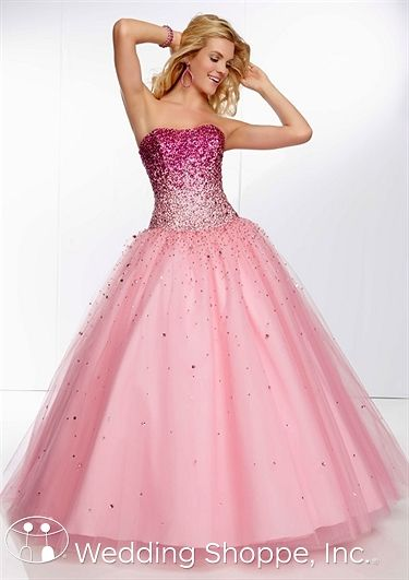 Pink ombre ball gown. Mori Lee prom dress.  a9823f9ab36d