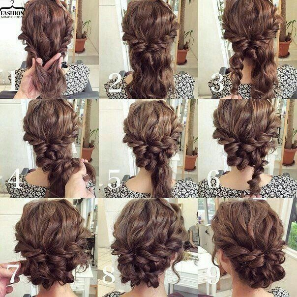 Easy Updo For Curly Hair Wedding Hair Prom Hair Long Hair Styles Hair Styles Hair Tutorial