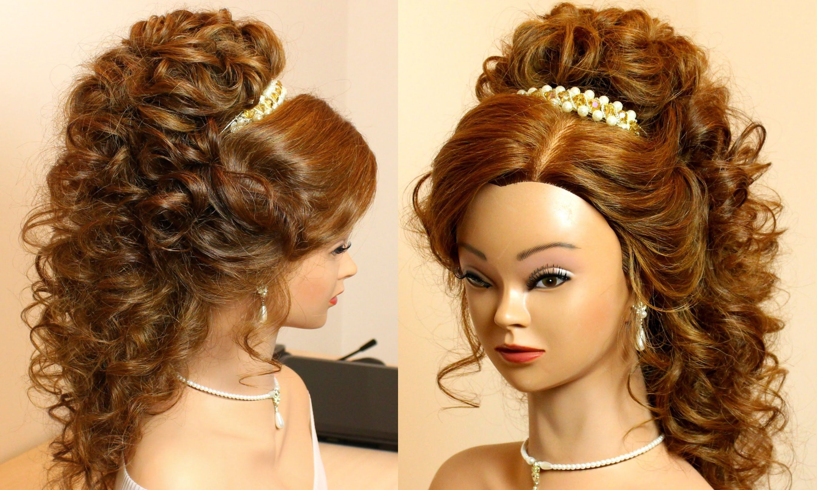 Wedding prom hairstyles for long hair Messy updo tutorial