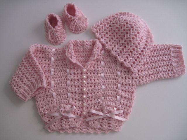 Completini - Completino neonata all'uncinetto - un prodotto unico di…
