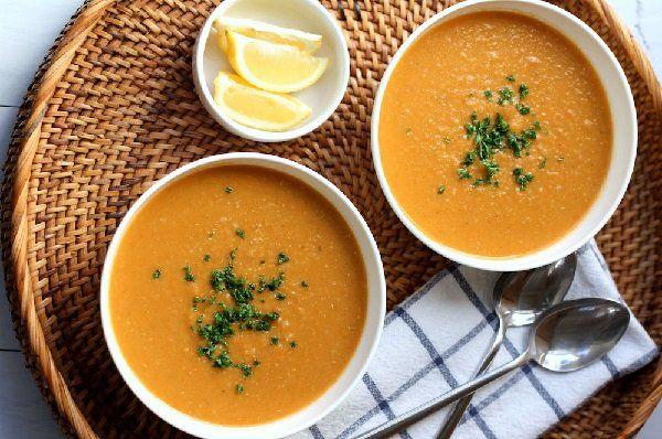 طريقة عمل شوربة العدس للرجيم طريقة Recipe Vegetarian Soup Recipes Carrot Soup Recipes