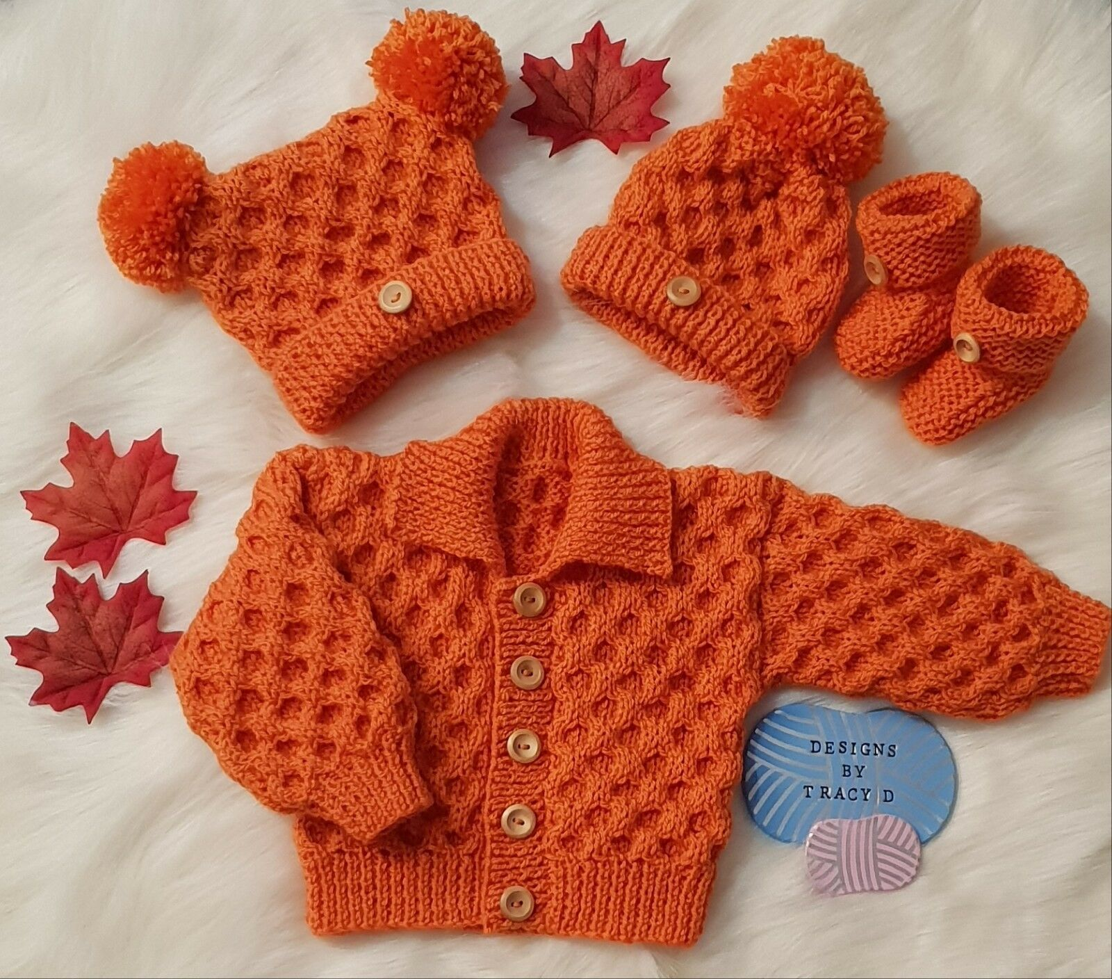 UNISEX DESIGNER KNITTING pattern 'Timothy' 0-3 & 6-12mths ...