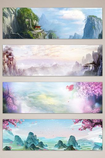 drawing chinese petal plant background banner poster | Backgrounds PSD Free Download - Pikbest