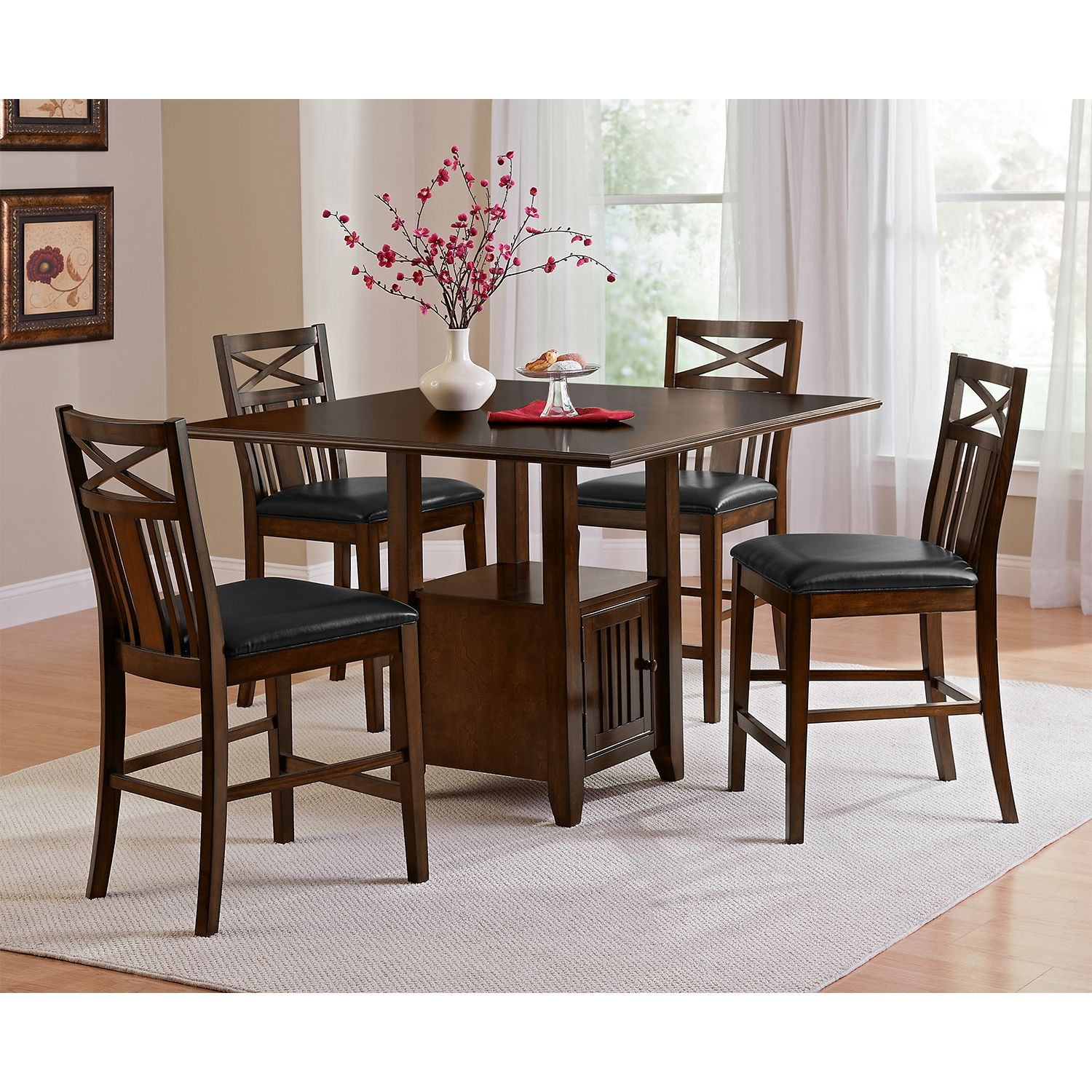 For The Kitchenette American Signature Furniture Natchez Trail Dining Room Counter Height Table Dining Room Furniture Furniture Dining