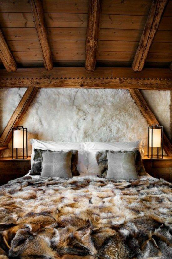 Comment créer chez soi une déco de chalet de montagne ? | chambre ...