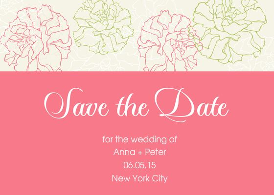 save the date floral ecard designed by martina on celebrations com