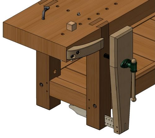 Wood Bench Vice Screw Diy Woodworking Projects Workbench Workbench Plans Workbench Designs