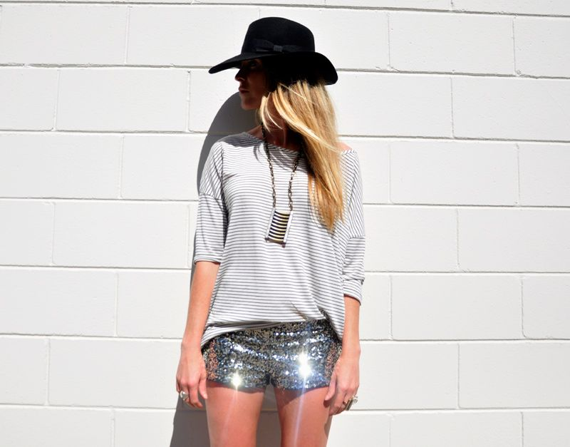 sequins are my kryptonite. esp when fashioned to short shorts.