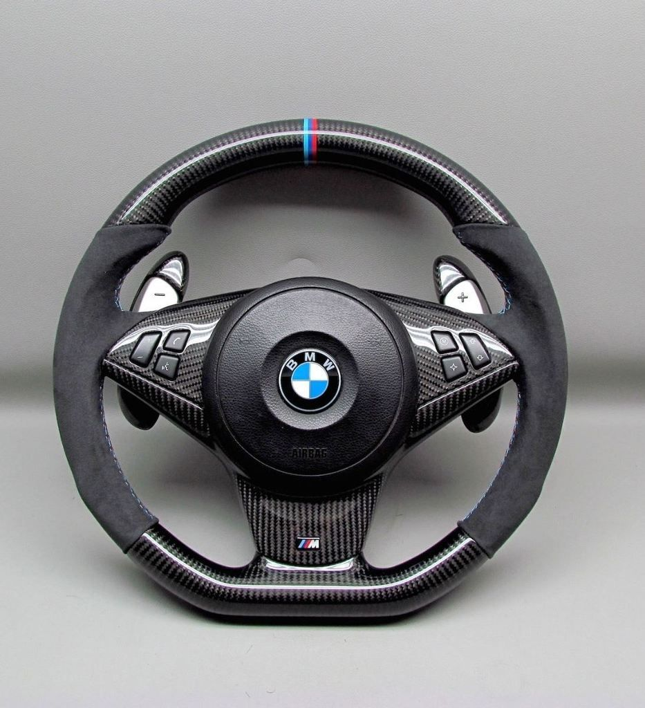 Alcantara leather keychain compatible with BMW M